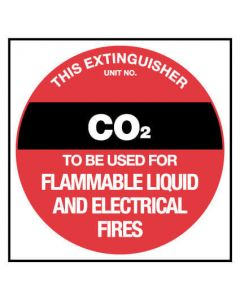 Fire Sign - CO2 Plastic 150 x 150 mm