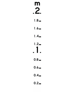 0-1m Flood Depth Marker Sign, Flat Style, 1350mm