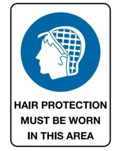 Hair Protection 600 x 450mm Poly