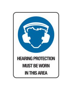 Mandatory Sign Hearing Protection In This Area