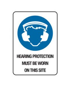 Hearing Protection On This Site Signage