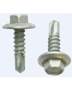 12 Gauge Hex Head Metal Self Drilling Screws, Coarse Thread, 12-14 x 55mm Class 4