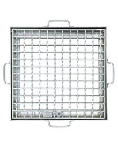 CAST IN HINGED GRATE and FRAME