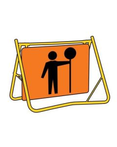 Day/Night Traffic Controller (T1-200-2BDSDG) Swing Stand Sign and Frame