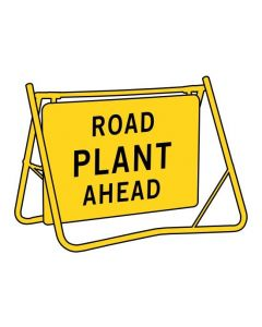 Road Plant Ahead (T1-3-1A) Swing Stand Sign and Frame