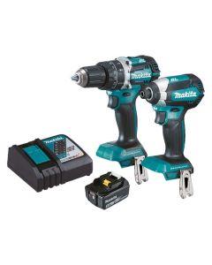 Makita 18V Cordless 2 Piece Combo, Hammer Drill and Impact Driver