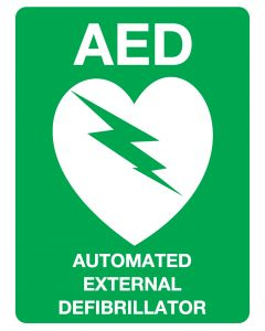 AED Sign, Poly, 225mm x 300mm