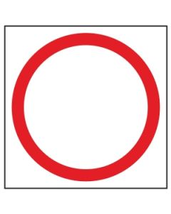 Blank Speed Disc Sign