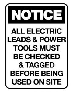 Notice Sign - NOTICE ALL ELECTRIC LEADS