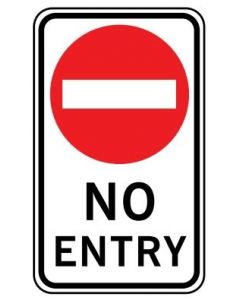 No Entry (NSW) Road Sign 450 x 750 mm