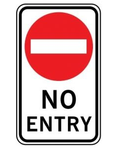No Entry (NSW) Class 1 Aluminium 600 x 1000mm