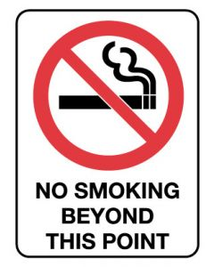 Prohibition Sign - NO SMOKING BEYOND THIS