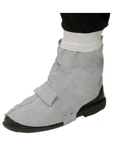 Leather Welders Spats with Velcro