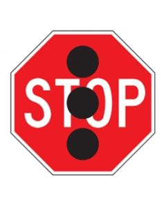 STOP SIGN W/BLACK DOTS 450 OCTAGON