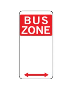 BUS ZONE SIGN WITH LEFT/RIGHT ARROW