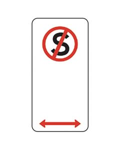 NO STANDING SIGN, Left/Right Arrow - Parking Signs 225 x 450mm