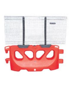 Trafix 2000 Water Filled Pedestrian Barrier - Red