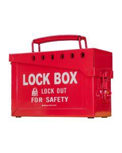 Red lock box