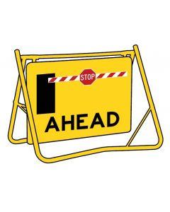 Portaboom Ahead Sign
