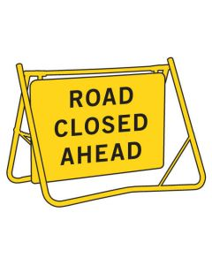 Swing Stand Sign - ROAD CLOSED AHEAD
