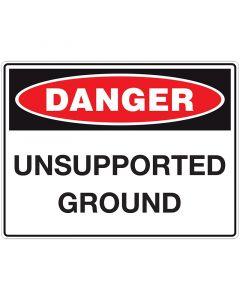unsupported ground danger sign