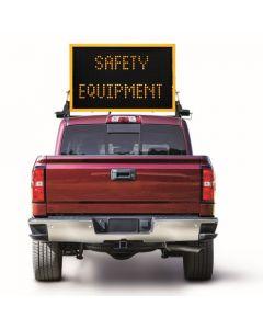 Amber vehicle mounted sign