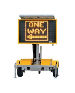 VMS Sign Trailer Amber Color Variable Message