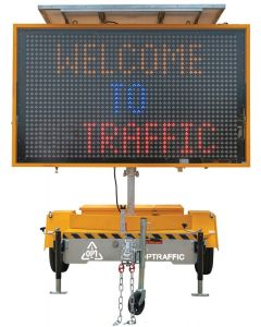 VMS Sign Trailer Color Variable Message Front