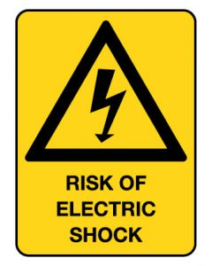 Warning Sign - RISK OF ELECTRIC SHOCK
