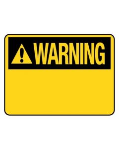 Warning Sign - Warning Blank 300 x 225mm Sa