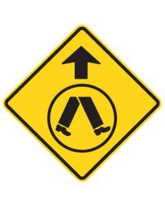 Warning Sign - PEDESTRIAN CROSSING AHEAD