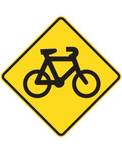 Warning Sign - Bicycle Symbol 600 x 600mm