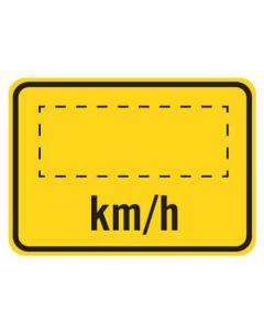 Warning Sign - _KM/H