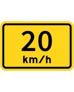 20Km/h Advisory Speed Class 1 Aluminium 600 x 400mm