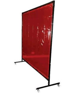 Welding Curtain and Frame Kit, 1.8 x 2m Red