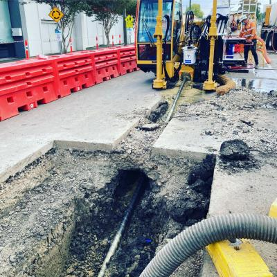 LoRo Barriers create a safer work zone