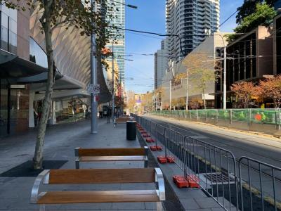 Crowd control barriers for Sydney CBD pedestrian zone