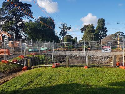 Create exclusion zones with temporary fencing